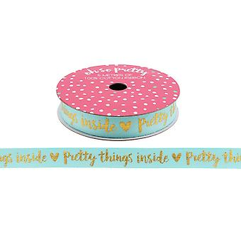 CGB Giftware Oh So Pretty Pretty Things Inside Gold Glitter Ribbon (5 Metres)