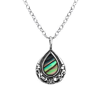 Teardrop - 925 Sterling Zilver Jewelled kettingen - W30861X