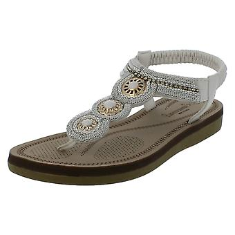 Mesdames Savannah empierré cercles Vamp Toepost sandales F0987