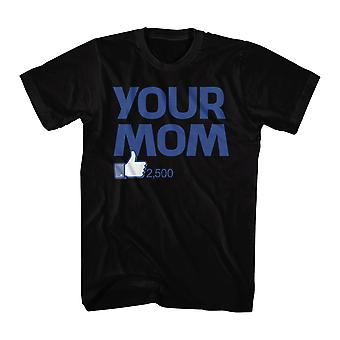 Humor Your Mom Men's Black Funny T-shirt