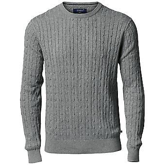 Nimbus Mens Winston Cotton Classic Cable Knit Jumper Sweatshirt
