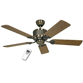 Energy-saving ceiling fan Eco Elements Brass with remote