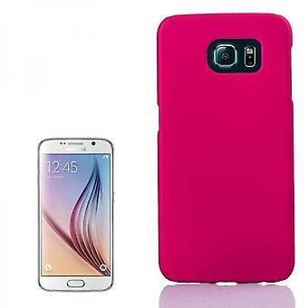 Caso duro caso goma rosa para Samsung Galaxy S6 G920 G920F