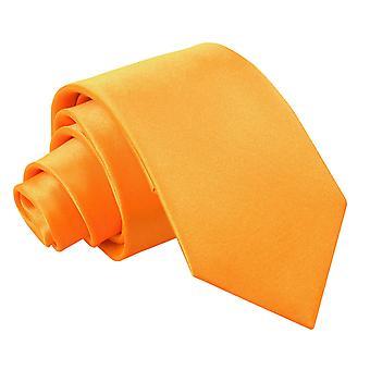 Fluoresoiva oranssi Plain Satiini säännöllisesti Tie pojille