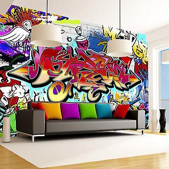 Fototapet - Street art:red theme