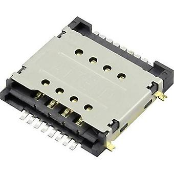 Attend SIM Card connector No. of contacts: 16 Push, Pull 115H-BA00 2 card slots 1 pc(s)