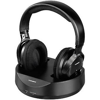 Thomson WHP3777 Cordless (1075099) Over-ear headphones Over-the-ear Volume control Black