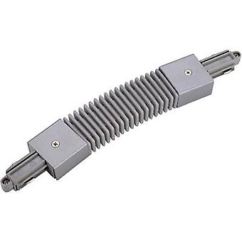SLV 143112 High voltage mounting rail Flex connector 1-phase Silver-grey