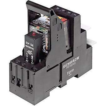 TE Connectivity PT5L7LC4 Relay component 1 pc(s) Nominal voltage: 24 Vdc Switching current (max.): 6 A 4 change-overs