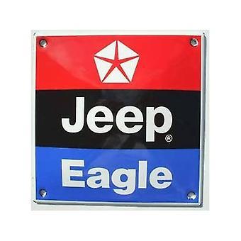 Jeep-Eagle kachel geëmailleerd Badge