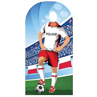 Wk 2018 Polen Voetbal Karton Cutout / Standee Stand-in