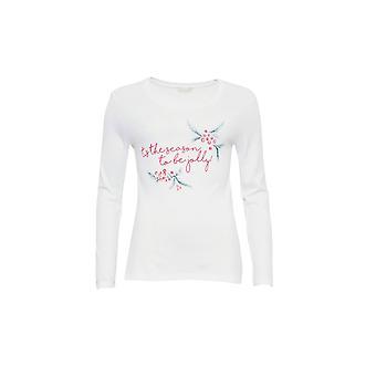 Cyberjammies 3860 kvinnors Holly White pyjamas pyjamas Top