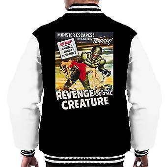 Revenge Of The Creature Movie Poster Men's Varsity Jacket