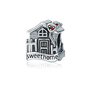 Sterling silver charm Sweet home villa