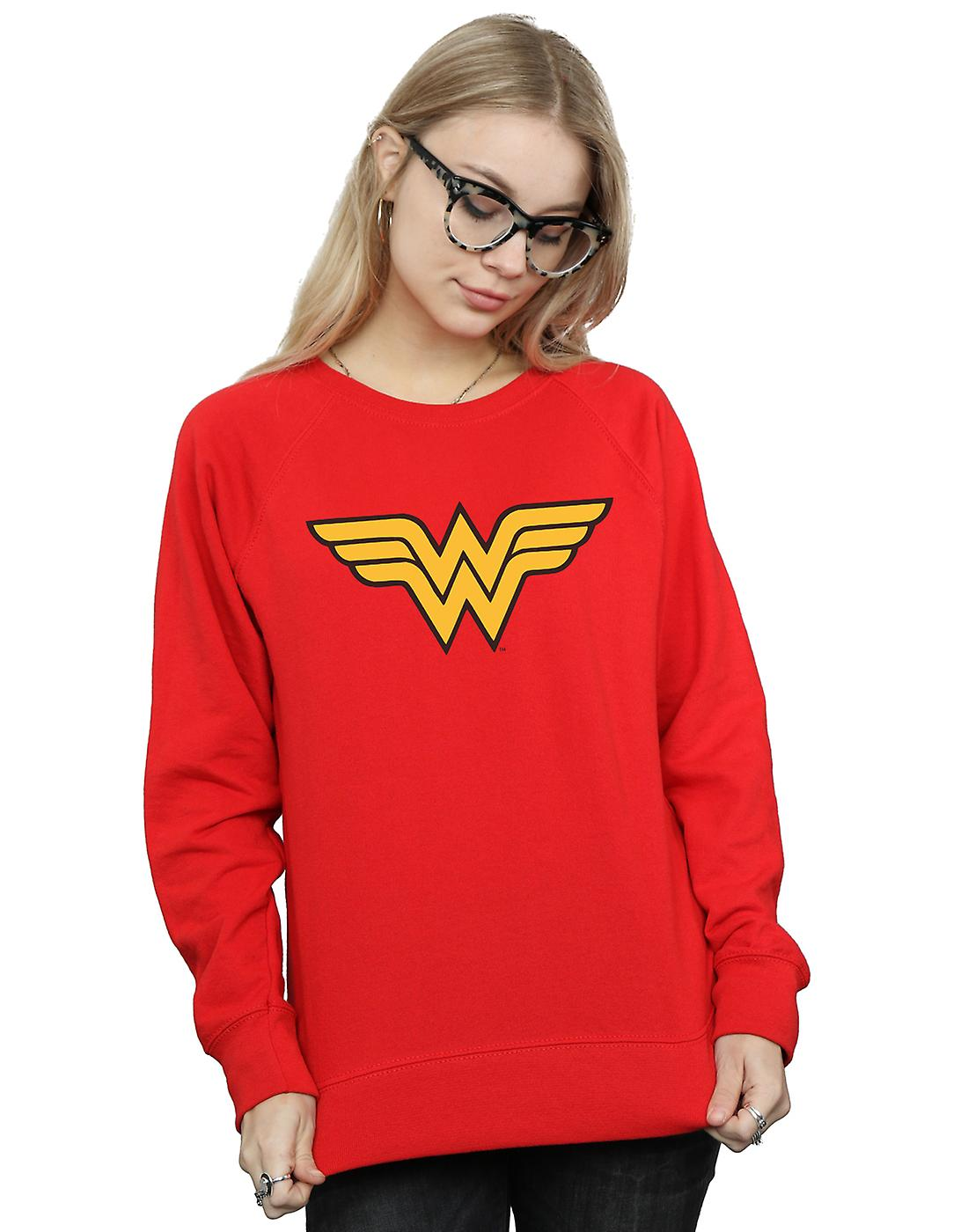 DC Comics Women's Wonder Woman Logo Sweatshirt