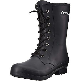 Roma Boots Women's EPAGA Short Lace-up Rain Boots