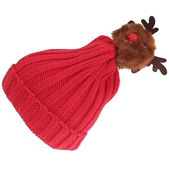 Foxbury Womens/Ladies Christmas Rudolph Knitted Hat