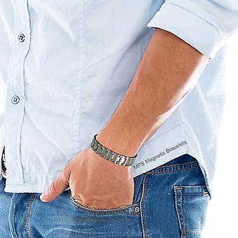 MPS® NEPTUNE Titanium Bracelet magnétique pour hommes + liens FREE Removal Tool