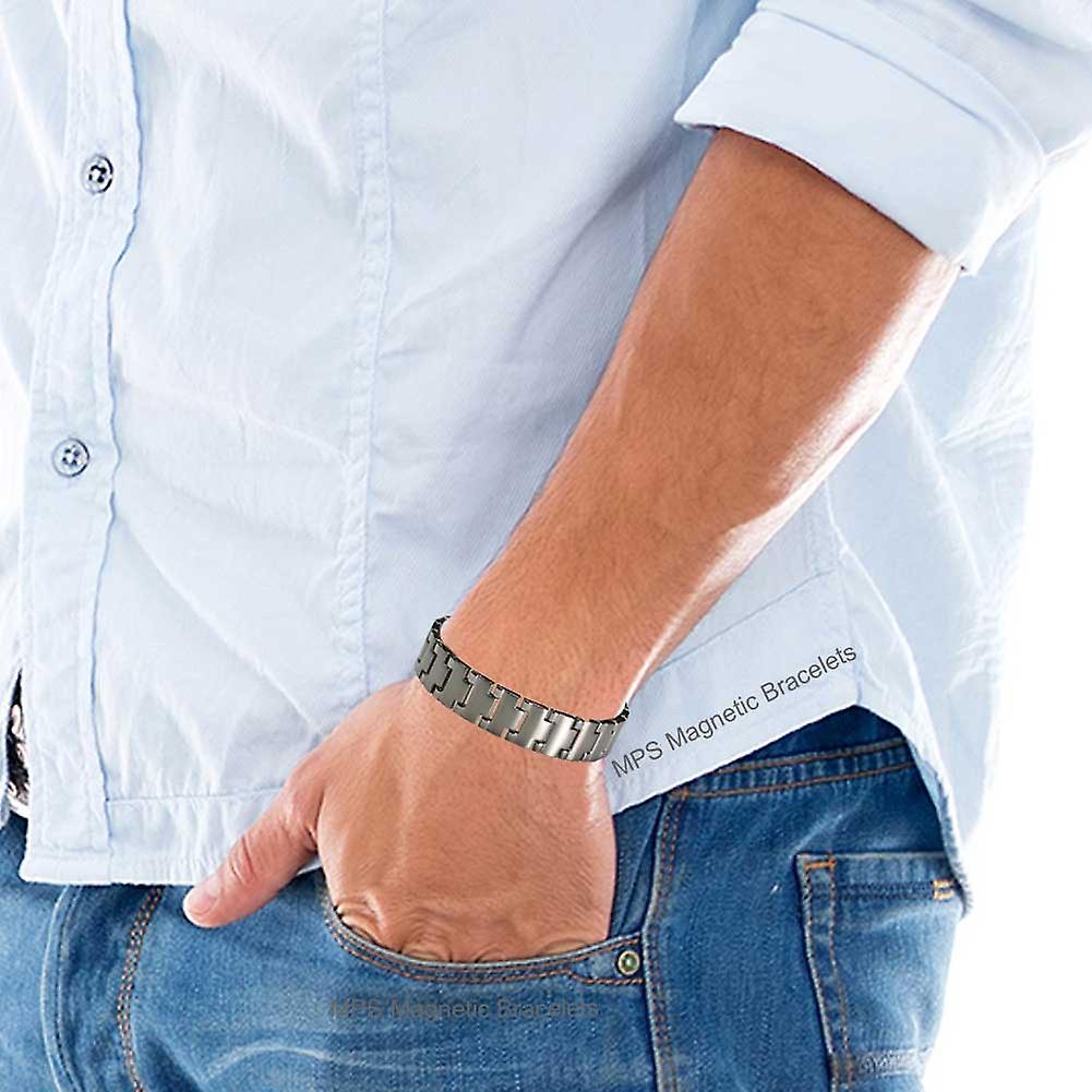 MPS® NEPTUNE Titanium Magnetic Bracelet for Men + FREE Links Removal Tool