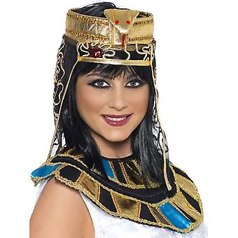 Smiffy's Egyptian Headpiece, Gold And Black