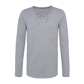 Men's Longsleeve Lacing Cord Long T-Shirt V-Neck Shirt Casual Jumper Jersey