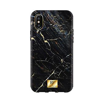 RF door Richmond & Finch shell voor IPhone X/XS-Zwart marmer