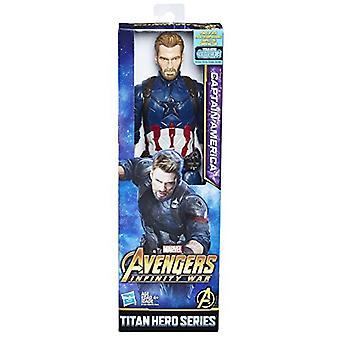 Marvel Infinity War Titan Hero Series Captain America with Titan Hero Power FX Port
