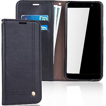 Cell phone cover case voor WIKO Lenny 5 cover wallet Pouch zwart