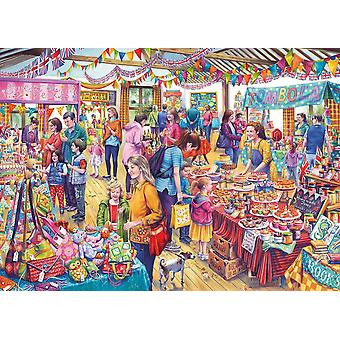 Gibsons Village Tombola Jigsaw Puzzle (1000 pieces)