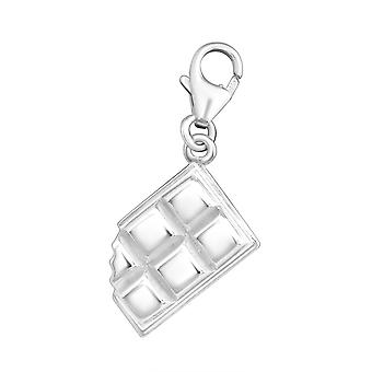 Chocolate Bar - 925 Sterling Silver Charms med hummer - W11371X