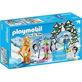 PLAYMOBIL 9282 Ski-Lektion-Action-Figur,