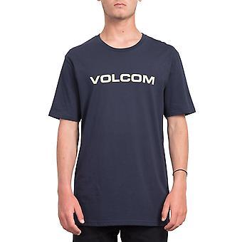 Volcom mäns T-Shirt ~ skarpa Euro navy