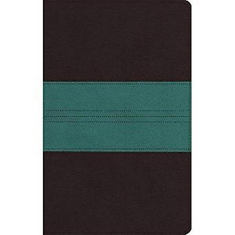 ESV große persönliche Druckgröße Bibel (Trutone, dunkel-braun/Petrol, Trail Design)