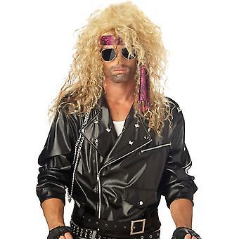 Blond peruk för Heavy Metal Rocker