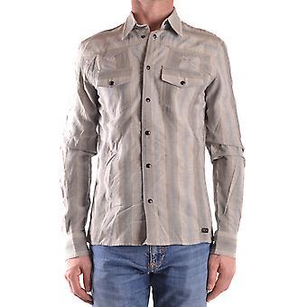 John Richmond Ezbc082047 Men's Grey Cotton Shirt