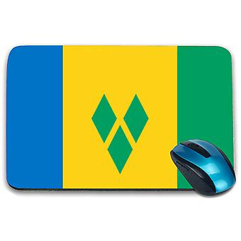 i-Tronixs - Saint Vincent and the Grenadines Flag Printed Design Non-Slip Rectangular Mouse Mat for Office / Home / Gaming - 0148