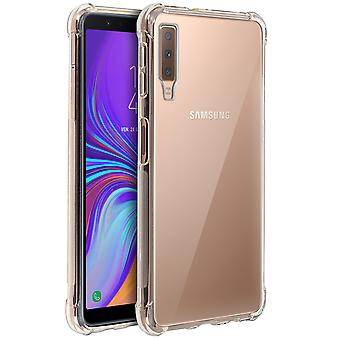 Samsung Galaxy A7 2018 Case, erzwungene Angles, Silikon-Haut-Transparent