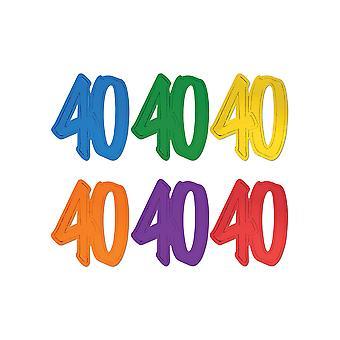 40 silhouettes de feuille de papier