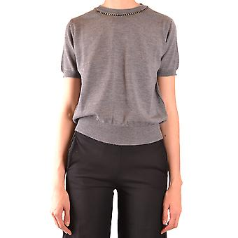 Twin-set Ezbc060204 Dames's Grey Wool T-shirt