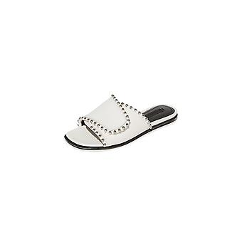 Alexander Wang Womens Leidy Leather Open Toe Casual Slide Sandals