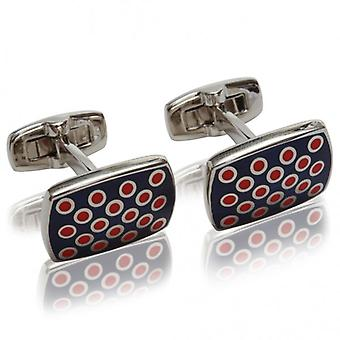 Duchamp of London Polka Spot Cufflinks, Colour 129