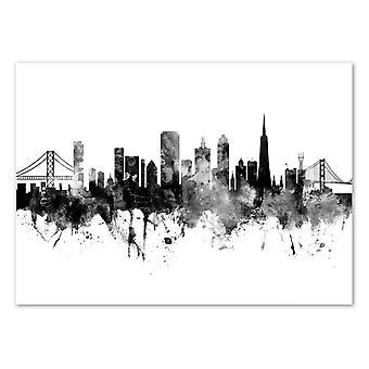 Kunst-poster-San Francisco California skyline-Michael Tompsett 50 x 70 cm
