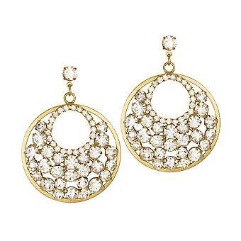 Ewige Sammlung Rendezvous österreichischen Kristall Gold Ton Drop-Clip auf Ohrringe