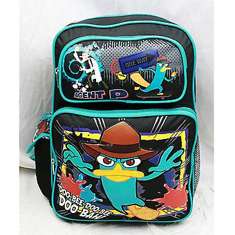 Backpack - Phineas and Ferb - Agent P Doo-Bah! (Large School Bag) New a01524