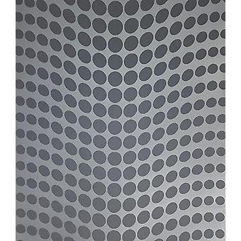 Blue Geometric Dotty Metallic Spots Fond d'écran Polka Dots Textured Paste Wall