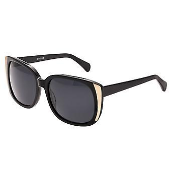 Bertha Natalia Polarized Sunglasses - Black/Black