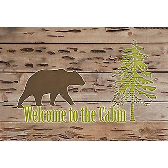 Carolines Treasures  SB3081PLMT Welcome to the Cabin Fabric Placemat