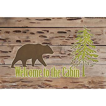 Carolines Treasures SB3081PLMT Velkommen til Cabin fabric underlag