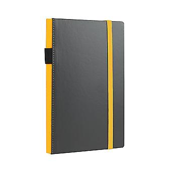 Notes & Dabbles Flynn Lined Notebook With Pen Holder, Various Colours & Sizes