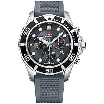 Swiss Military Swiss Quartz Analog Man Watch with SM34044.06 Rubber Bracelet